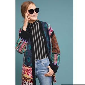 NWT ANTHRO Patchwork Kimono cardigan size large